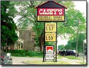 Prices of gasoline at Casey's in Basehor near the $1.60 per gallon mark. Some experts believe that gas prices could rise to $2 per gallon this summer.