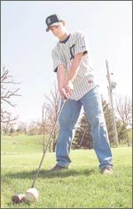 DeSoto junior Lane Erickson combines golf and baseball in the spring.