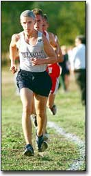 Mill Valley's Griffin Lee took the Kaw Valley cross country championship last Thursday.