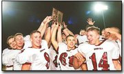The Eudora High football team celebrates its 27-6 victory over Basehor and winning a Kansas class 4A bi-district title. The win also assured the Cardinals a spot in the state quarterfinals. Eudora will play host to Hiawatha on Saturday evening, and gates will open at 5 p.m.