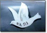 This dove symbolizes flight 93, the number of the fatal flight that crashed in Pennsylvania.