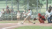 Former McCaffrey All-Stars played their best against the current Tonganoxie American Legion team Saturday afternoon during a memorial game to honor longtime baseball coach John McCaffrey.