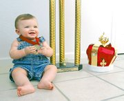 Brandon Thomas Jr., 8 months old,Tonganoxie, recently won a national beautiful baby contest.
