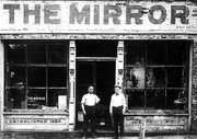 George R. Broadbere, a former British sailor, founded The Mirror newspaper in 1882. He is shown here with his printer, who is at left. Recently, a California man, Steve Argilla, wrote to The Mirror staff, seeking information about his great-great-grandfather -- who was Broadbere.