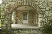 This archway at a house just south of Tonganoxie demonstrates Nick Marel's expertise as a stonemason.