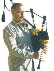 Porterfield says it's an honor to play the bagpipe at memorials and other cermonies.