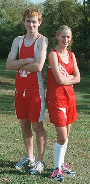 Andy Kolman and Christy Weller will compete at the state cross country meet Saturday in Wamego.