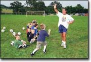 Anthony Hopwood, a Kansas City youth coach who played professionally in Great Britain, has high expectations for children attending the Kansas City Wizards soccer camp. The camp, in its fourth year at the Leavenworth County Fairgrounds, was last Thursday and Friday.