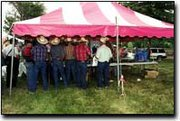 The fun included a catered barbecue dinner in the shade of a tent for about 200 guests attending.