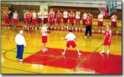 Members of the Tonganoxie boys basketball team worked out after school on Monday, in preparation for their upcoming game this Friday against DeSoto. The team lost its 2000-2001 season opener last Friday against Immaculata.