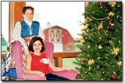 Riley Vogel and her grandmother, Darcey Vogel, pose for a holiday photo in Tonganoxie.