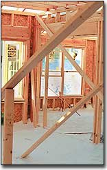 Snow made its way inside a house under construction in Toganoxie's Stone Creek subdivision. Tonganoxie led Leavenworth County in the number of building permits issued during 2000