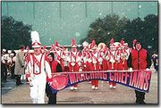 The Tonganoxie High School Marching Chieftains braved surprisingly cold temperatures during their recent trip to the Cotton Bowl in Dallas.