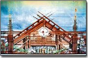 This is an architectural sketch of a casino the Delaware Tribe would like to build.
