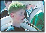 Green hair was the color for the day, even for some of junior high band school members.